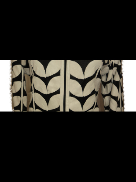 Beige Leather Leaf Bolero for Women